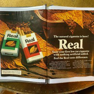 Vintage 70s Sport Magazine Real Ad Poster